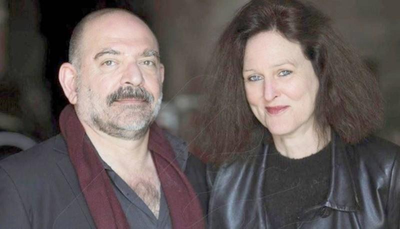 لقمان سليم وزوجته مونيكا بورغمان.