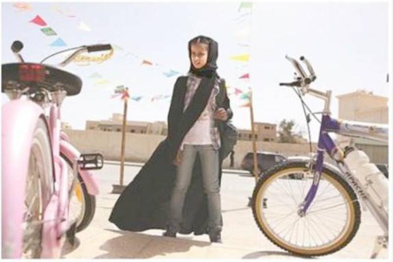 مشهد من فيلم «وجدة» للمخرجة هيفاء المنصور.