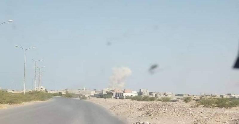 القصف الصاروخي على حي المنظر