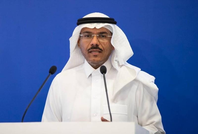الدكتور محمد العبدالعالي في المؤتمر الصحفي