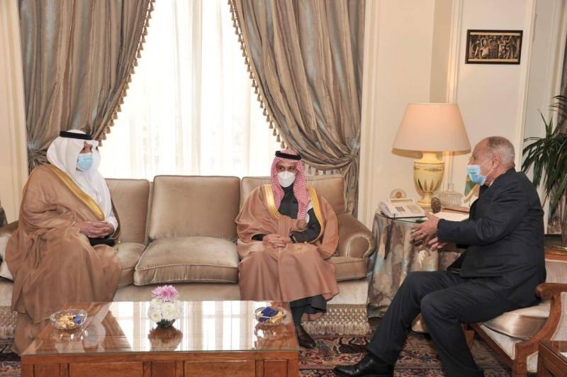 أمين جامعة الدول العربية أحمد أبو الغيط يستقبل وزير الخارجية.