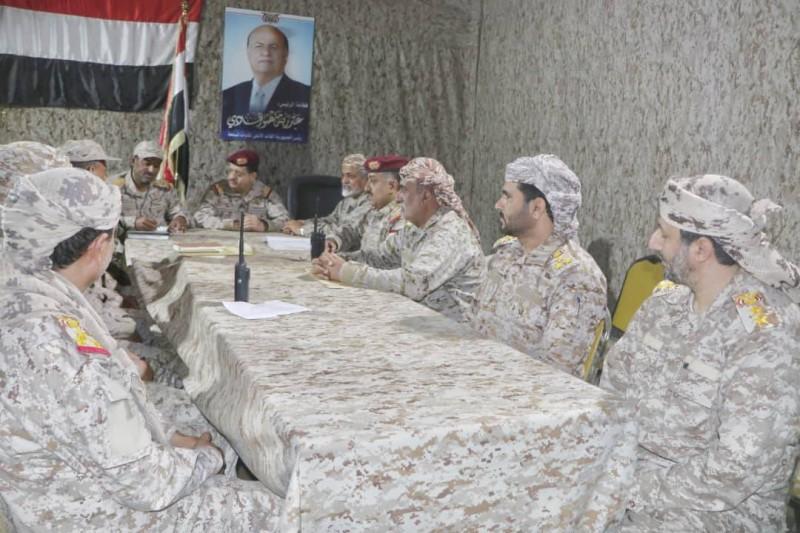 اجتماع القيادات العسكرية اليمنية في مأرب اليوم