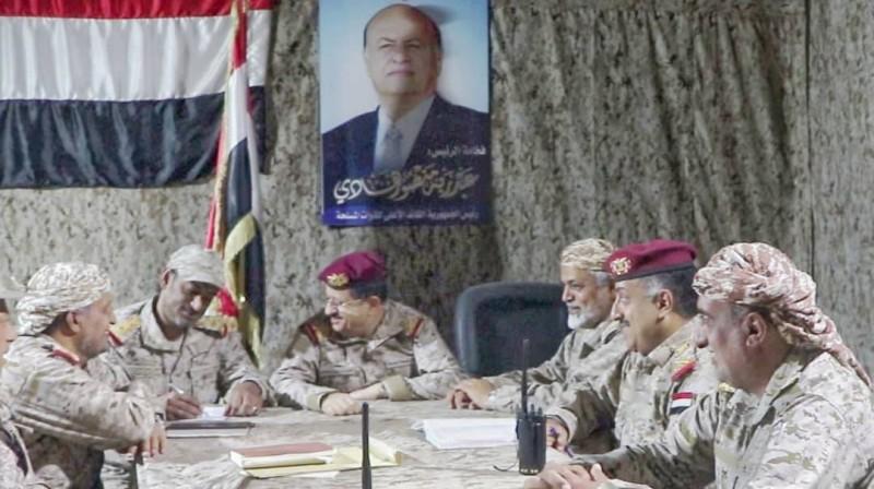 قيادات الجيش اليمني في مأرب اليوم