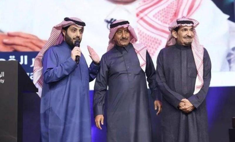 آل الشيخ والقصبي والسدحان في مناسبة سابقة