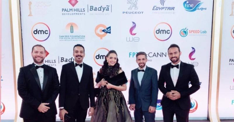 طاقم فيلم «حد الطار» المشارك في مهرجان القاهرة السينمائي.