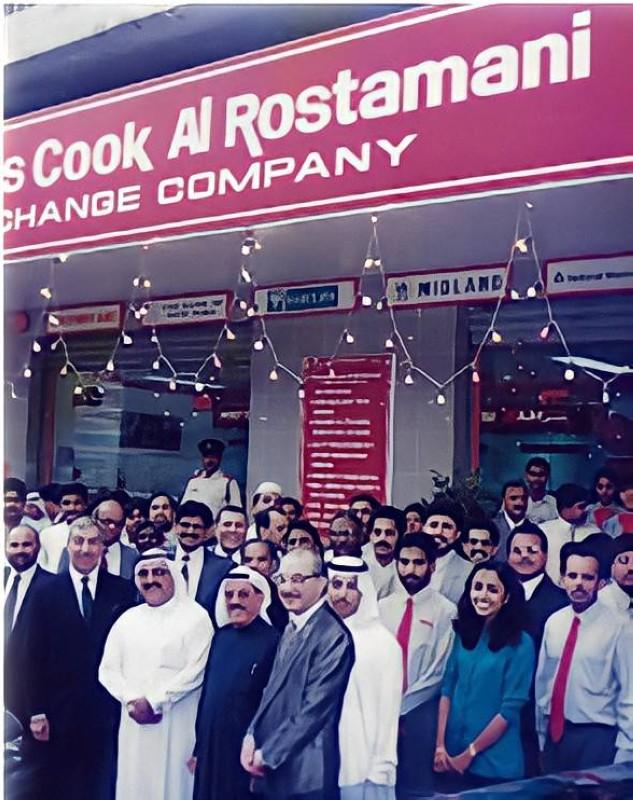 الأخوان الرستماني في حفل افتتاح شركة توماس كوك/ الرستماني للصرافة في دبي.