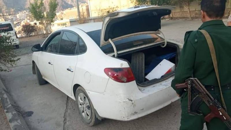 سيارة تابعة للإرهابيين.