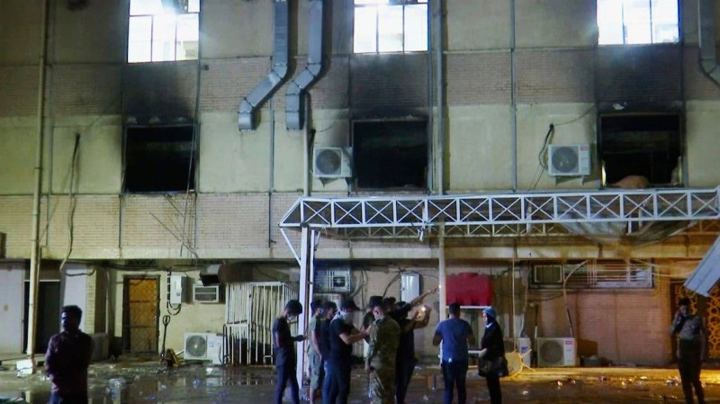 كارثة مستشفى العراق.. 82 قتيلا و110 جرحى