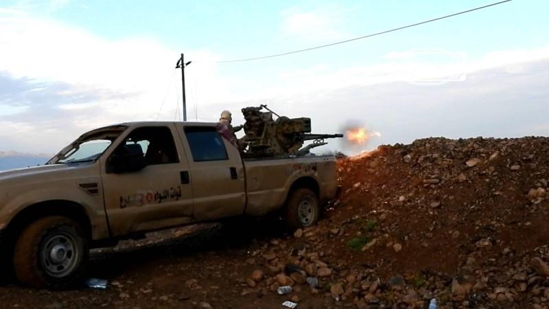 قوات من الجيش اليمني خلال المواجهات مع المليشيا في الضالع.