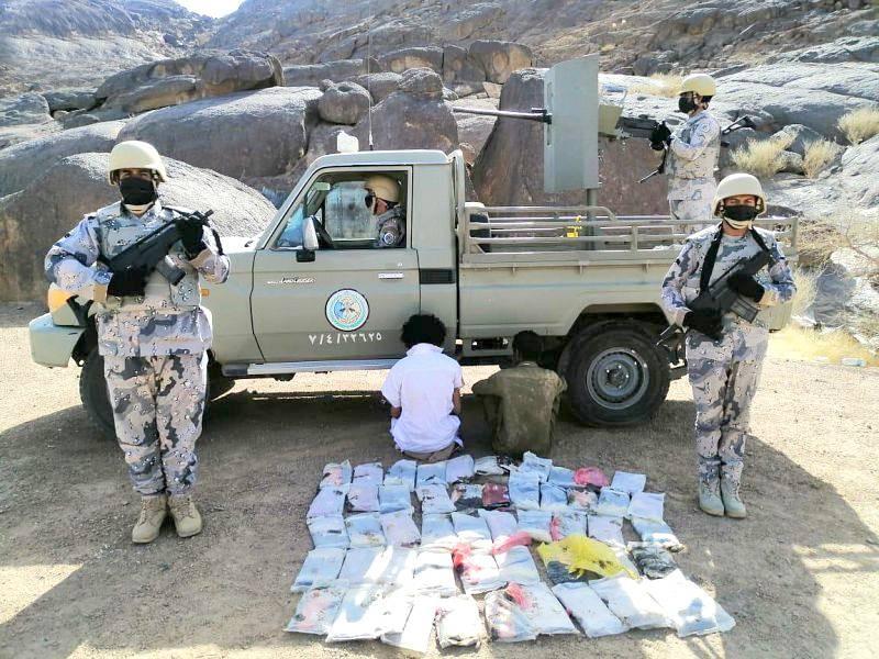 مهربان تم ضبطهما أثناء محاولة إدخال سمومهما عبر الحدود الجنوبية.