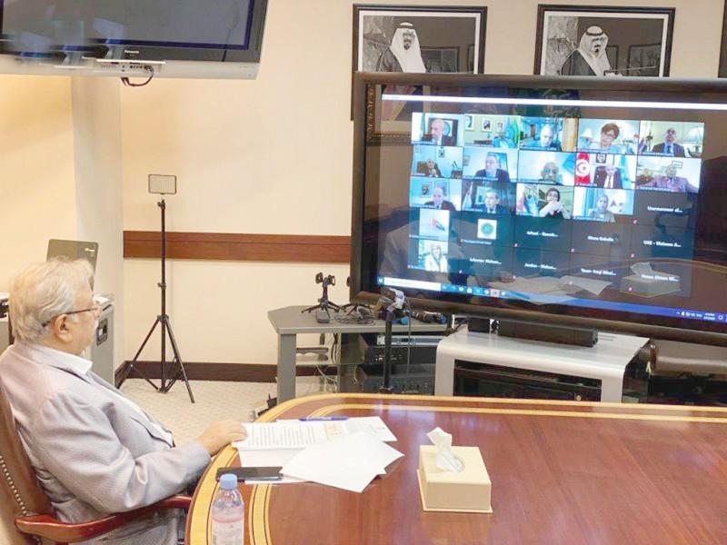 السفير المعلمي في اجتماع المجموعة العربية في نيويورك.
