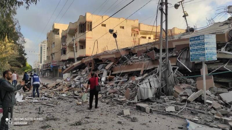 تدمير مباني ومنازل في غزة