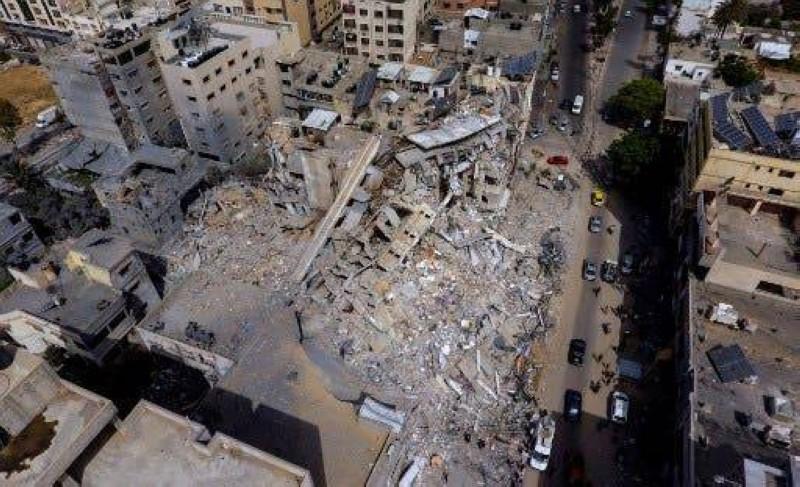 دمار في غزة.