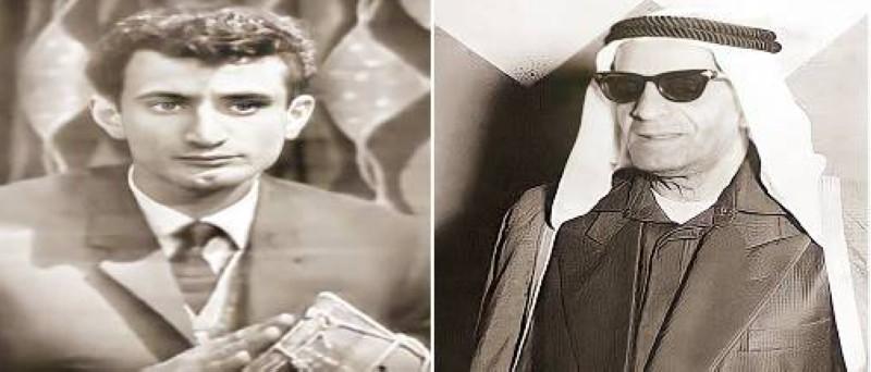 عبدالله رحمة فضالة وابنه الفنان فضالة عبدالله.