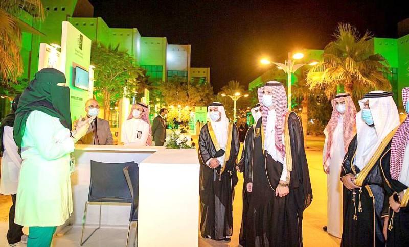 أمير الجوف يرعى حفل تخريج الدفعة الـ15 من جامعة الجوف. (واس) 