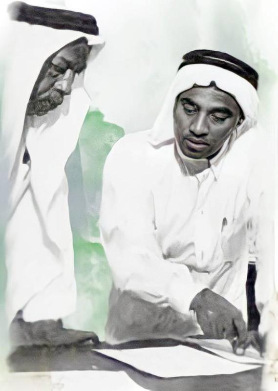 الأنصاري مع محمد سعيد عبدالمقصود خوجة.