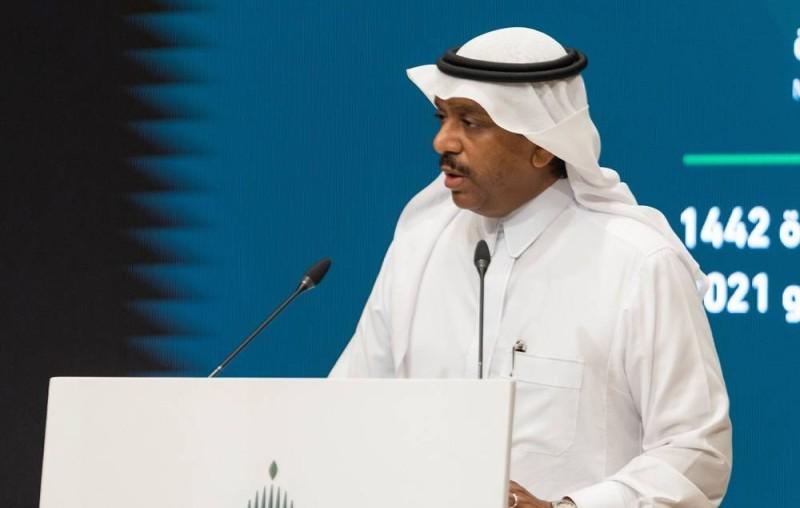 نائب وزير الحج في المؤتمر (تصوير وزارة الإعلام «تويتر»)