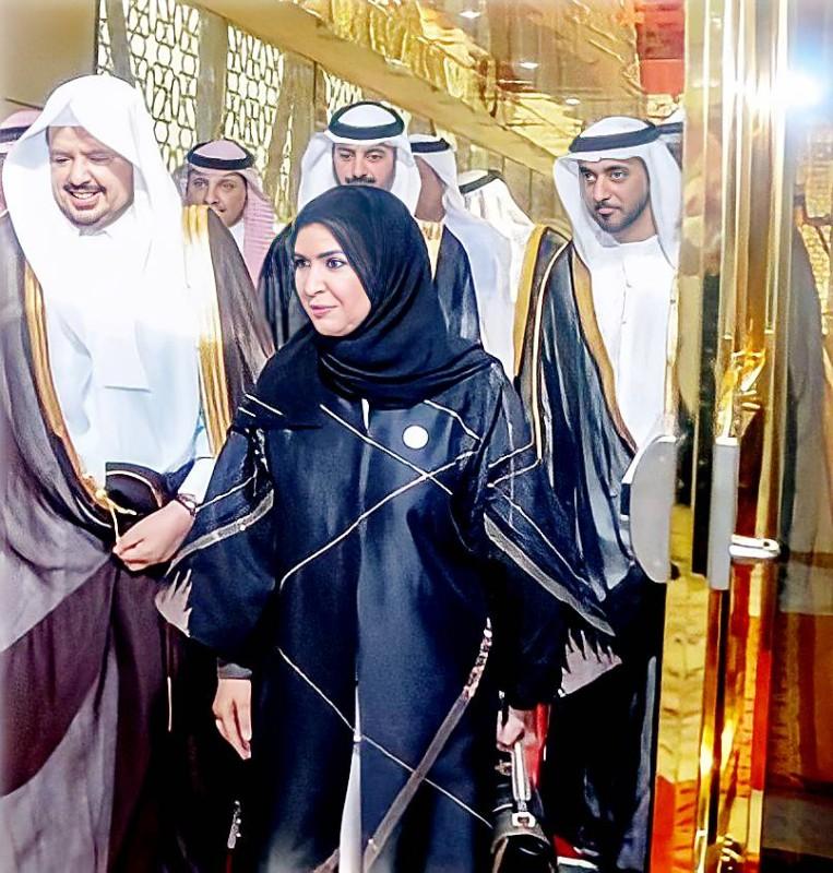 القبيسي في السعودية مع رئيس مجلس الشورى عبدالله آل الشيخ.