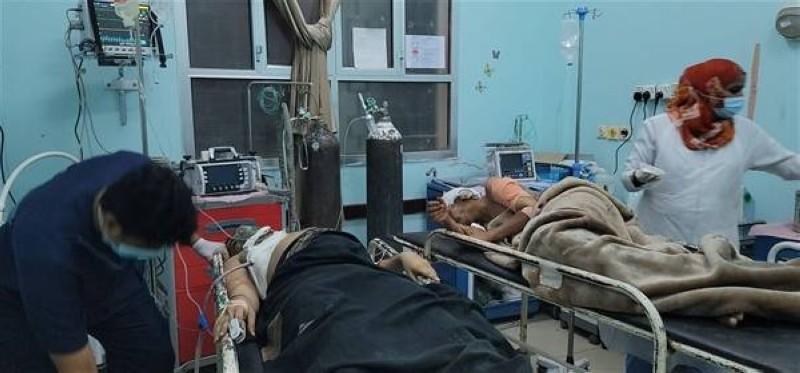 ضحايا القصف الحوثي.