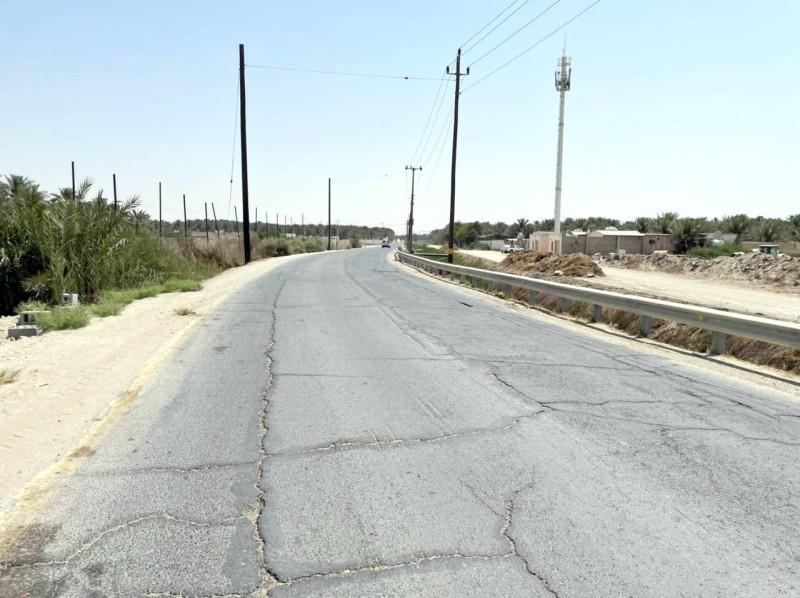 الطريق الرابط بين بلدة القرين وجيرانها من البلدات الأخرى. (تصوير: المحرر)