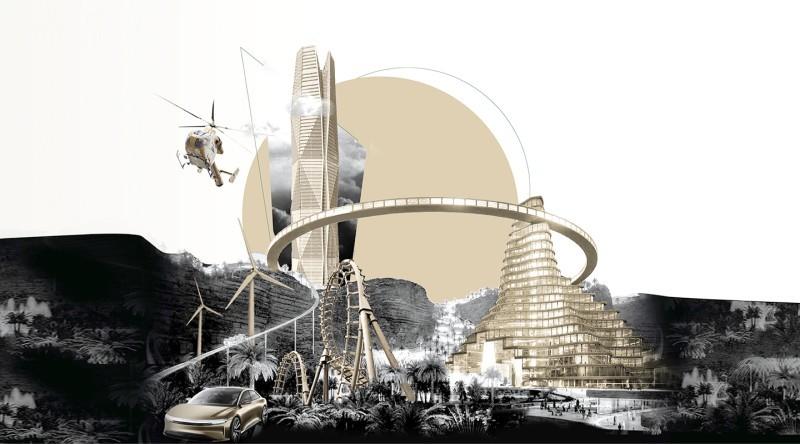 تصميم تعبيري من صندوق الاستثمارات العامة عن برامجه الحالية والمستقبلية.
