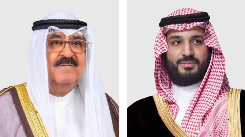 الأمير محمد بن سلمان والشيخ مشعل الأحمد الصباح