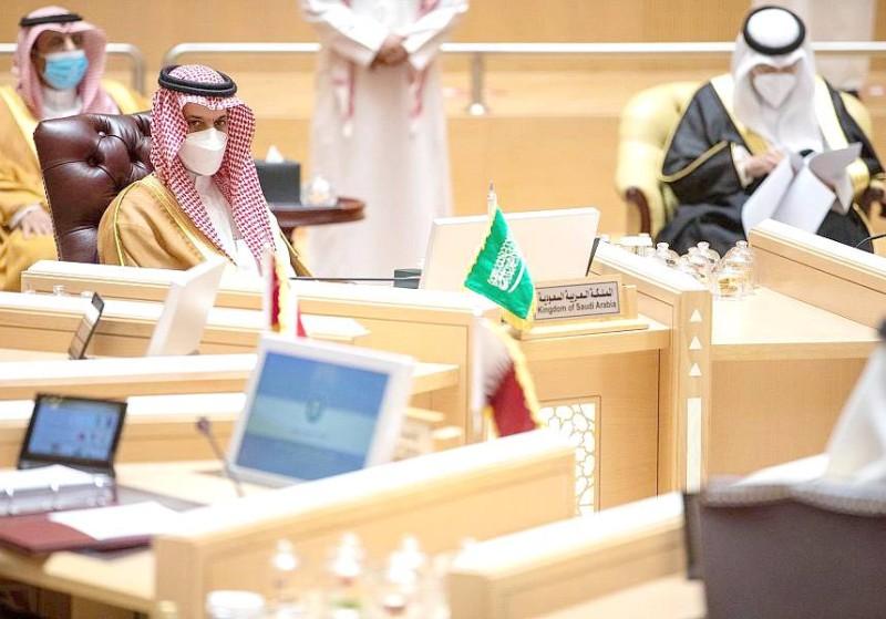 وزير الخارجية خلال حضوره الوزاري الخليجي أمس.  (واس)