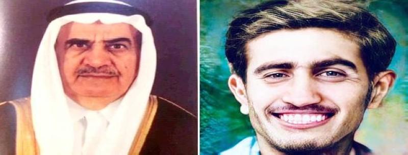 عبدالعزيز بن زيد القريشي في صورتين من زمنين متباعدين.