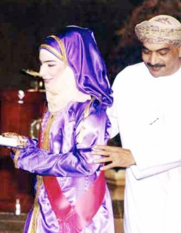 شيخة في حفل تخرجها من جامعة السلطان قابوس.