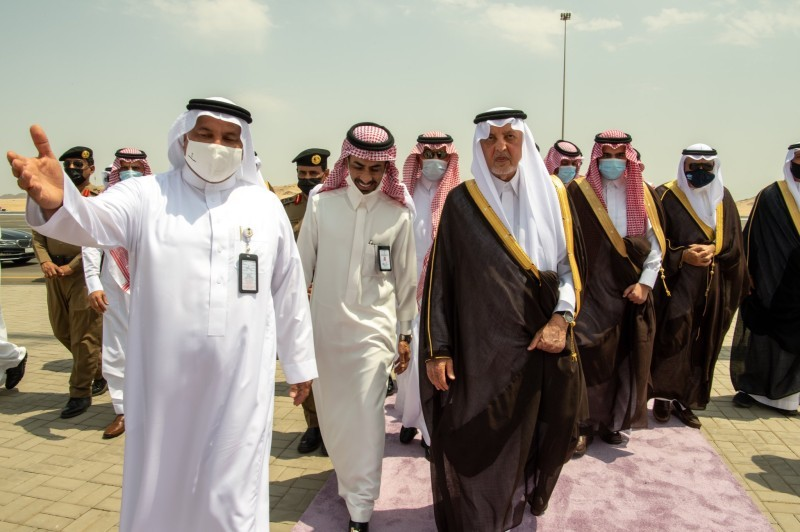 جولة الأمير خالد الفيصل في المشاعر (إمارة مكة - «تويتر»)