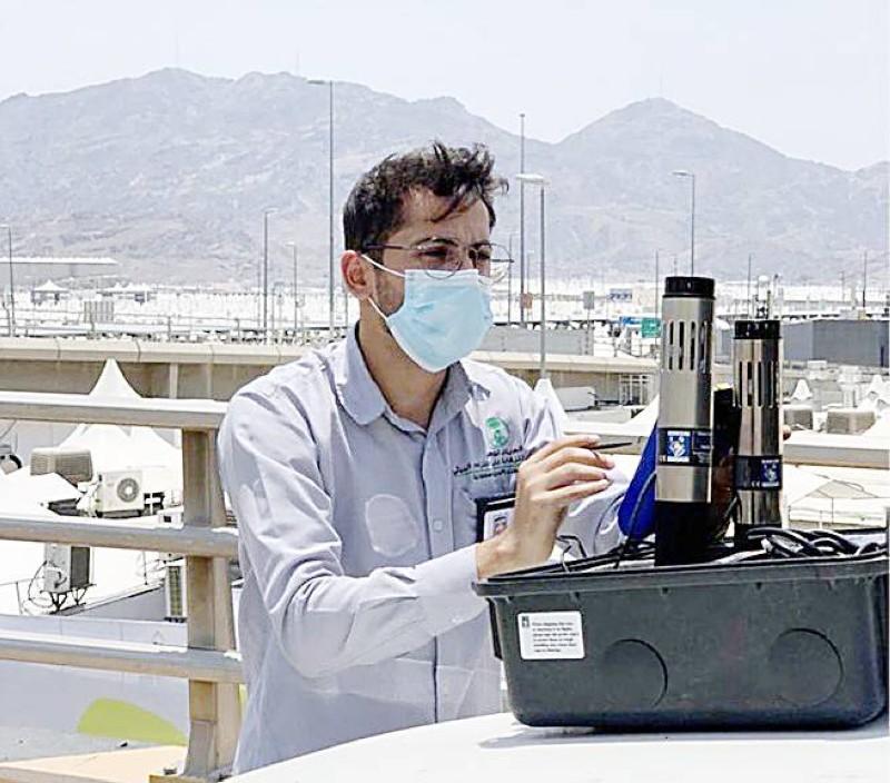 جهاز قياس التلوث. (واس)