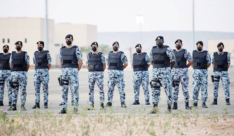 جنود من القوات الخاصة المشاركة في أمن الحج.