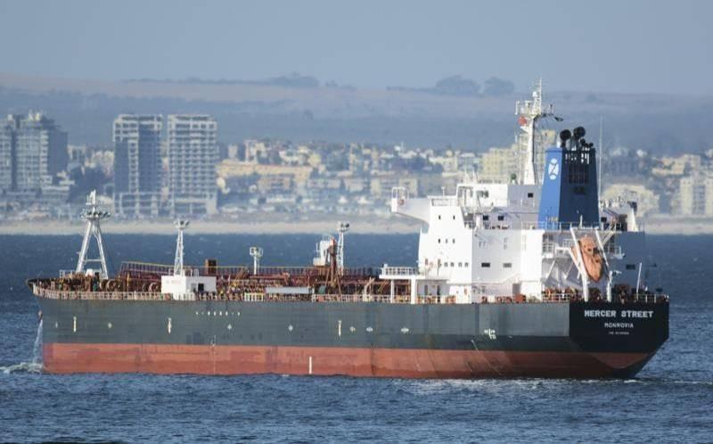 سفينة إسرائيلية تم استهدافها بمسيرات إيرانية قبالة عمان.