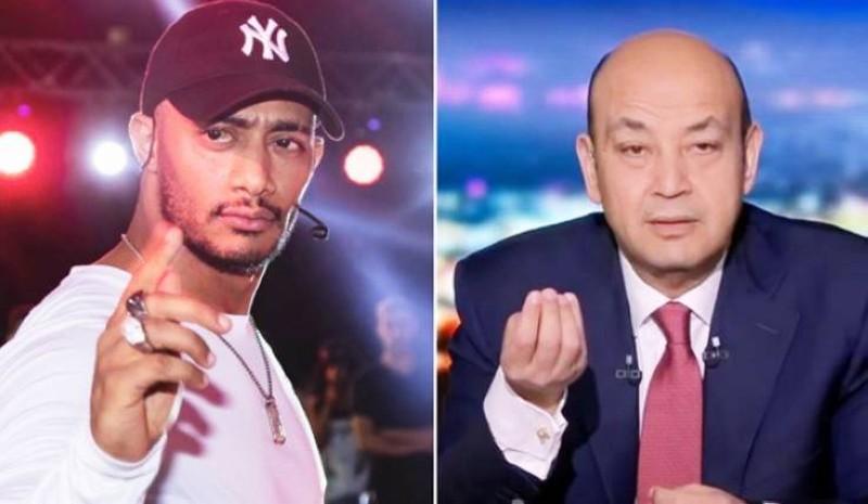عمرو أديب ومحمد رمضان.
