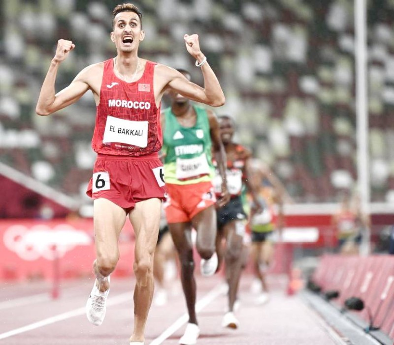 تعد ذهبية البقالي هي الميدالية رقم 24 للمغرب في الألعاب الأولمبية، و20 في ألعاب القوى، والذهبية السابعة. (وكالات)