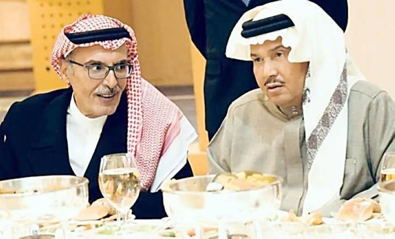 الأمير بدر مع الفنان محمد عبده.