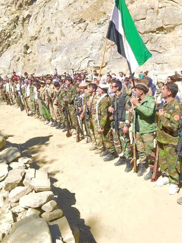 قوات تابعة لمسعود في بنجشير. (متداولة)