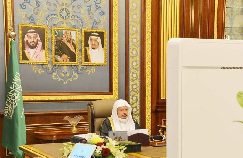 آل الشيخ مترئسا جلسة مجلس الشورى اليوم (مجلس الشورى)
