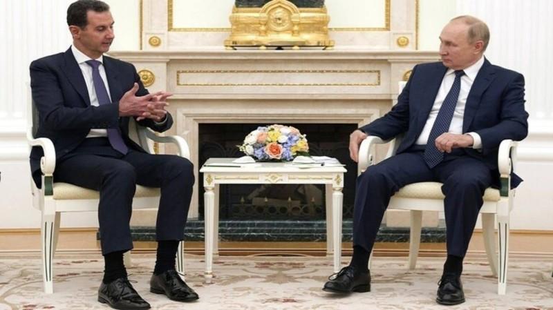 بوتين والأسد قبل ساعات من إعلان دخول الأول الحجر الصحي.