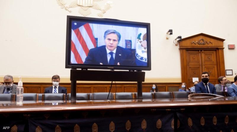 بلينكن يدلي بشهادته أمام الكونغرس.