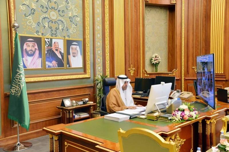 نائب رئيس مجلس الشورى الدكتور مشعل السلمي مترئسا جلسة مجلس الشورى اليوم (مجلس الشورى)