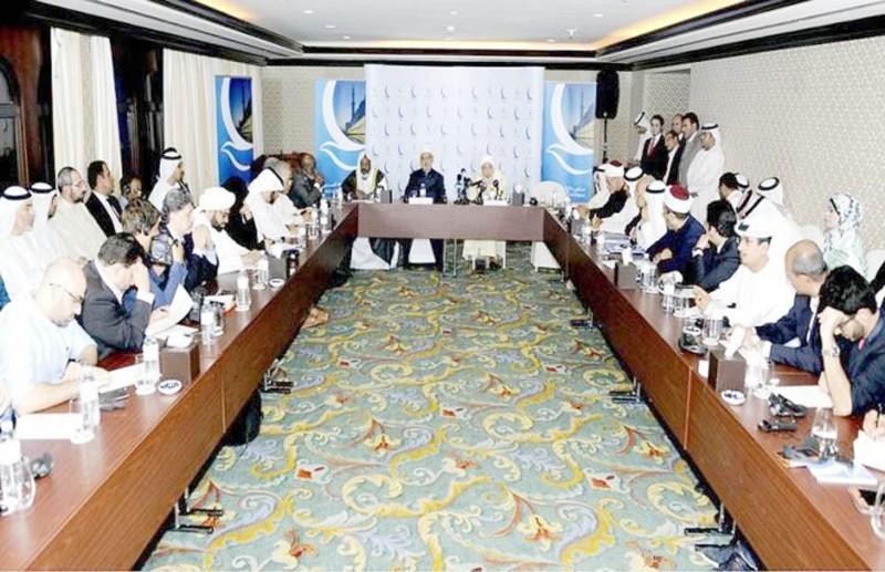 جانب من اجتماع سابق لمجلس حكماء المسلمين.