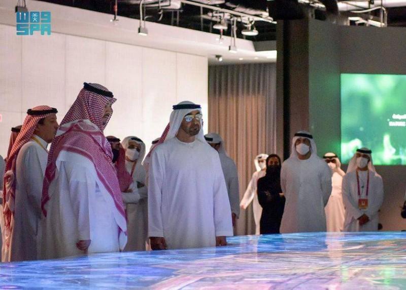 ولي عهد أبو ظبي يزور جناح المملكة في «إكسبو 2020 دبي»