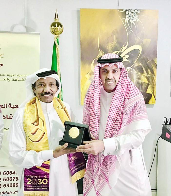تكريم عبده خال في جمعية الثقافة والفنون بجدة عام 2018.