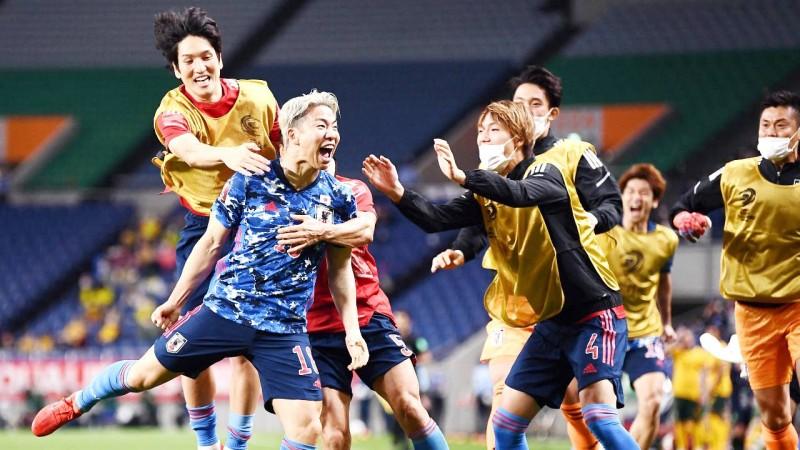 فرحة يابانية بهدف التفوق. (Getty)