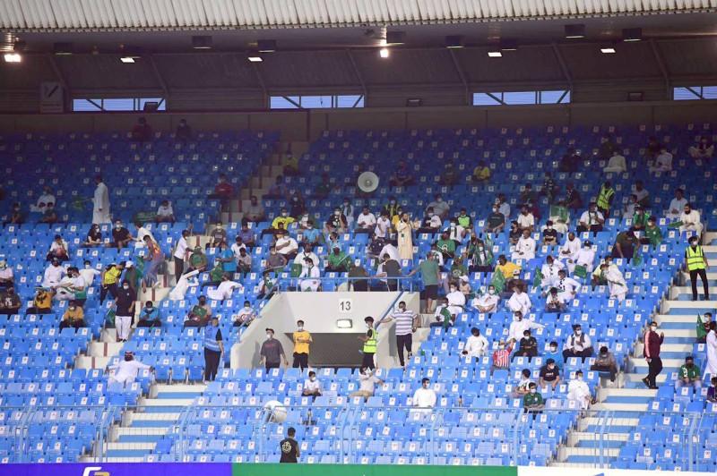 شهدت المباراة النهائية حضوراً ودعماً جماهيرياً مميزاً للأخضر الأولمبي.