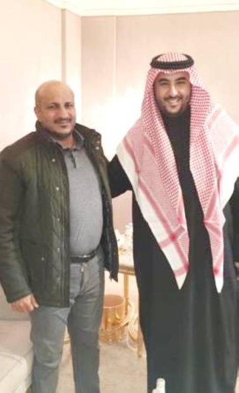 الأمير خالد بن سلمان مع طارق صالح.